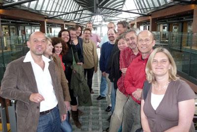Teilnehmer der AGRA-Tagung mit den Sprechern Franziska Hofmann (6. von links) und Georg Berg (2. von rechts)